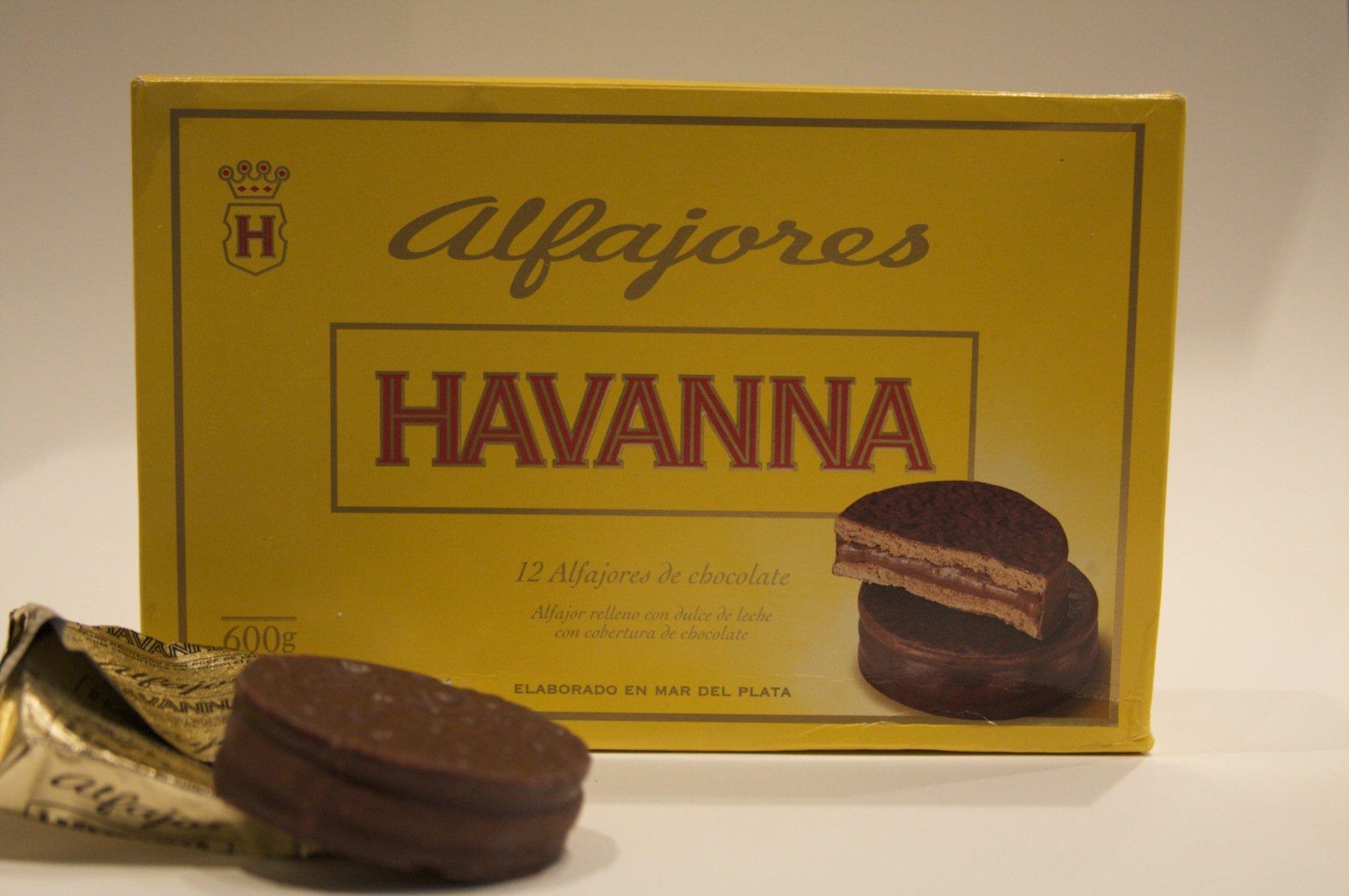 Alfajores Havanna de chocolate rellenos de dulce de leche (12 units) by Havanna