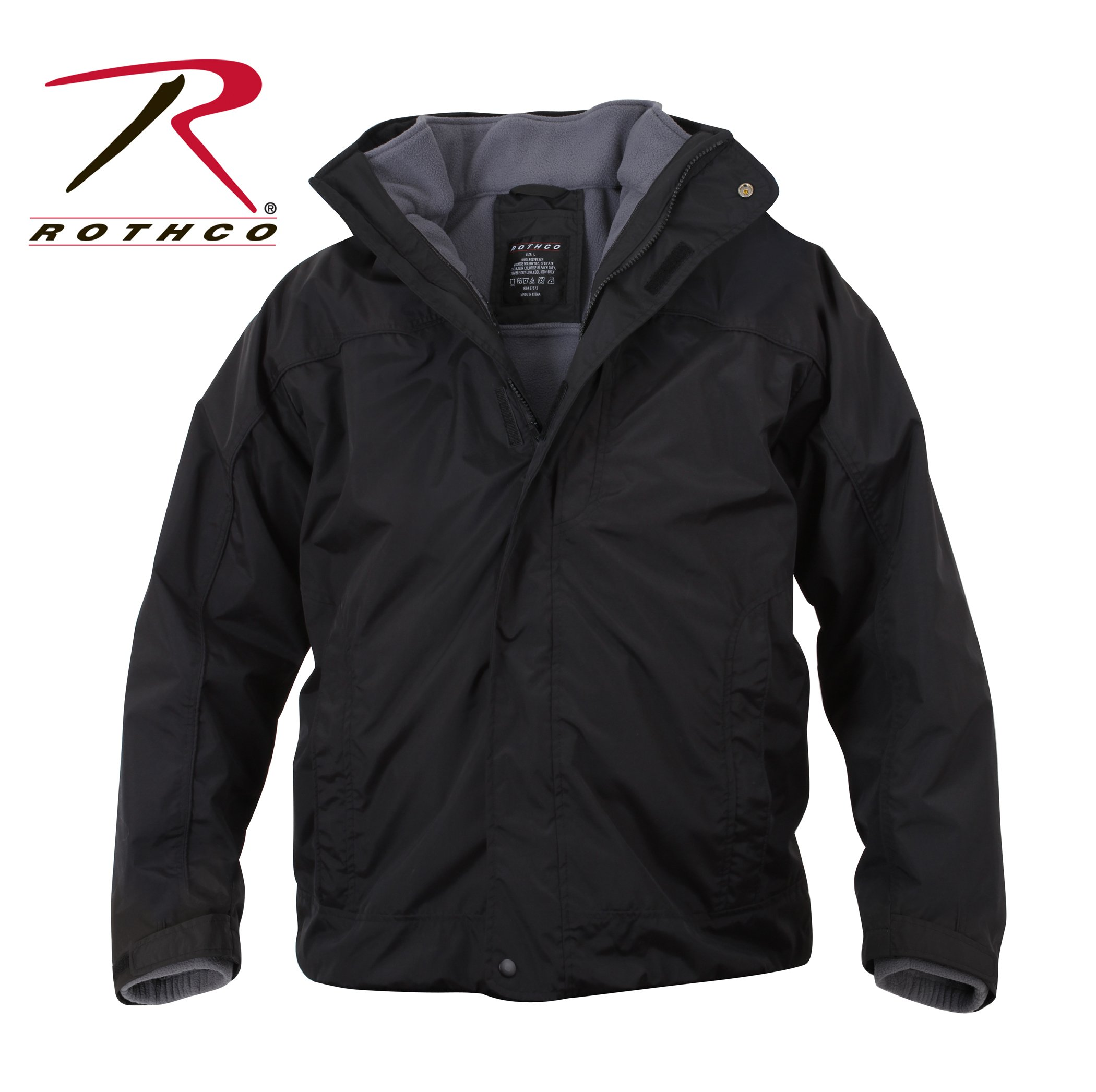 Rothco All Weather 3 In 1 Jacket, Black, X-Large
