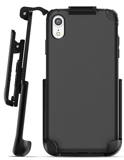 big sale 20977 0d144 Encased iPhone XR Belt Clip Holster Case, Ultra Thin Grip Protective Cover  with Belt Holder for Apple iPhone XR Phone (Nova Series) Black