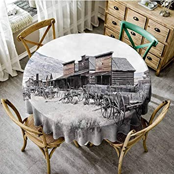 Amazon Com Diliteck Polyester Tablecloth Old Wooden Wagons