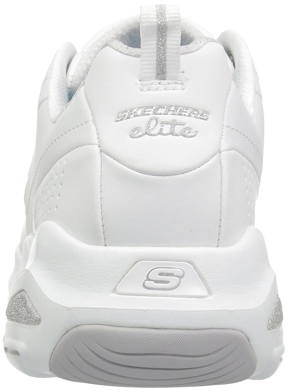 Skechers Damen D'Lite Silver Ultra-Illusions Ausbilder, Schwarz White Silver D'Lite 71c250