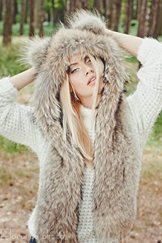 da389aabab6 Amazon.com  Coyote fur hat for women and men - Winter hats
