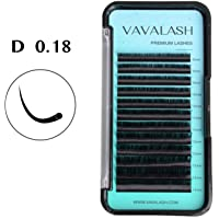 Eyelash Extension 0.18 D Curl Mink Black Eyelash Extensions Individual Lashes Natural Classic Faux Mink Lash Extension Supplies For Professionals Silk Mixed Tray By VAVALASH (D 0.18,8-14 Mixed)