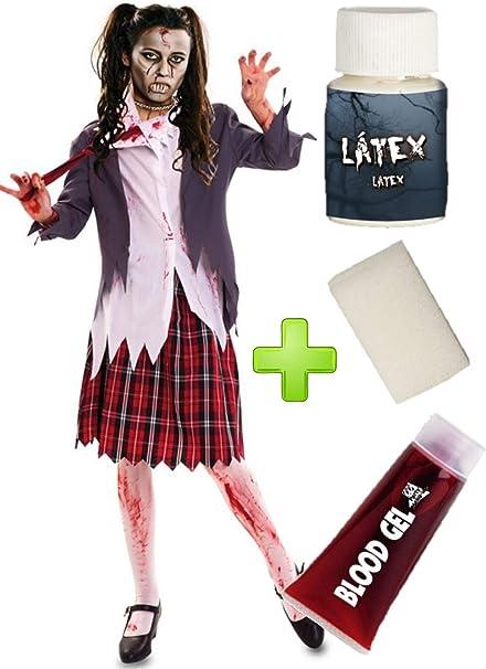 Disfraz de Estudiante Zombie chaqueta con set de maquillaje ...