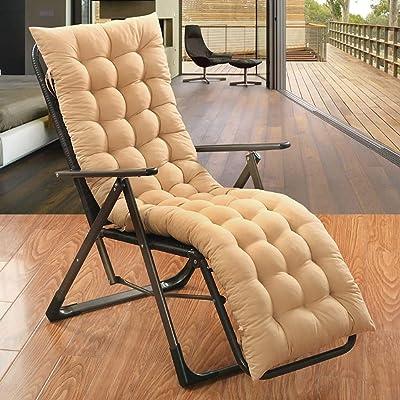 KTDZ Sun Lounger Cushion Pads Garden Furniture Cushions Recliner Cushion Sun Lounger Thick Cushion Recliner Chair Outdoor Terrace Garden Mat Terrace Mat 48 120CM (Excluding Chairs): Home & Kitchen