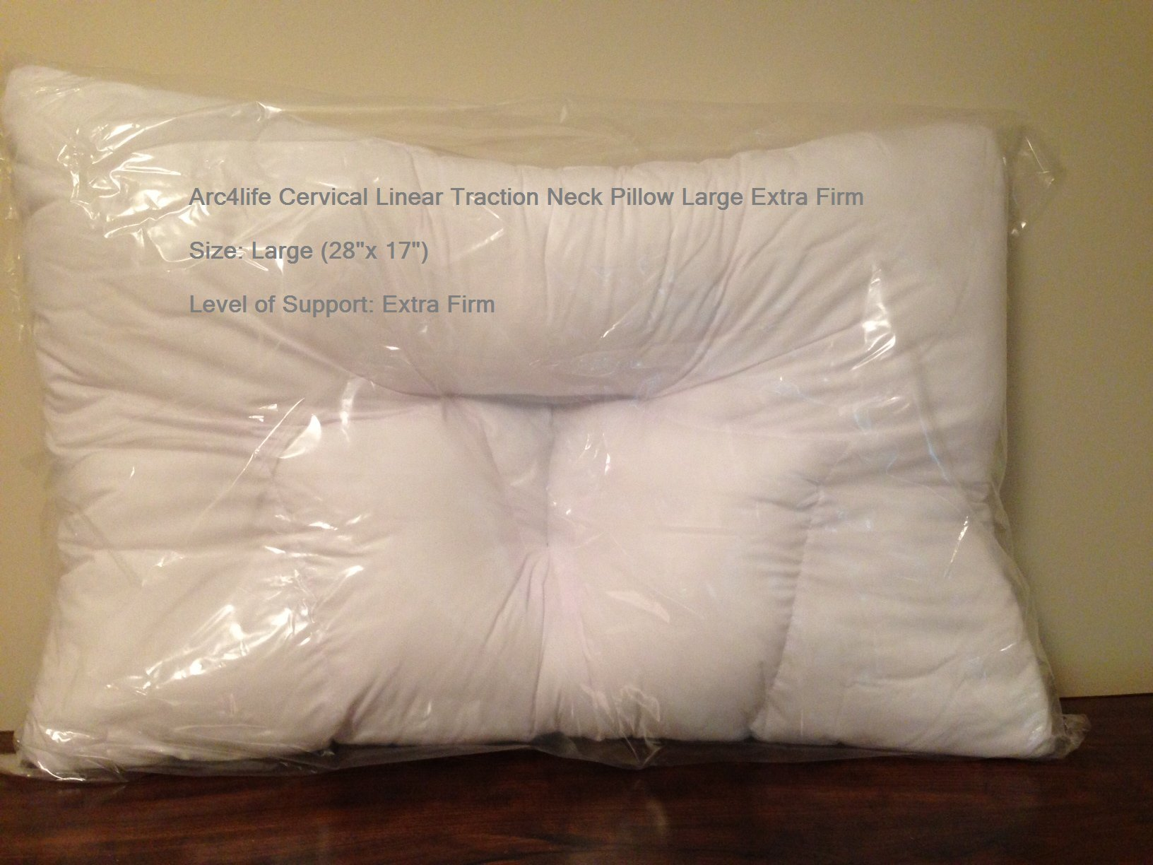 Arc4life Cervical Linear Traction Neck Pillow Large Extra Firm