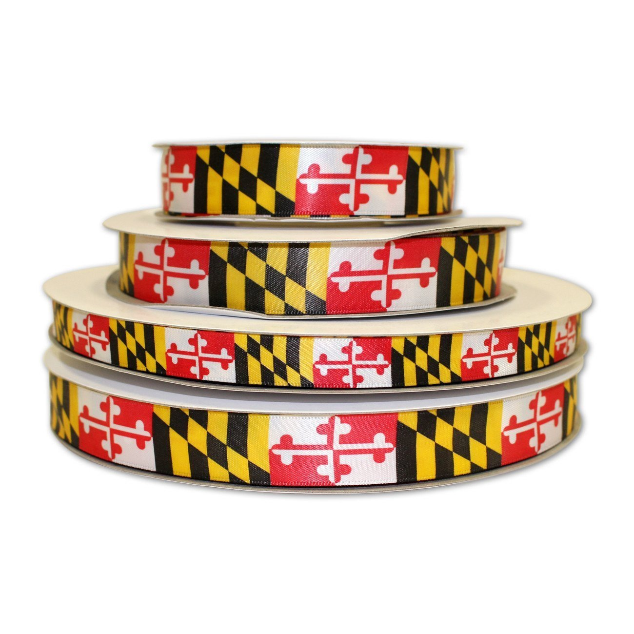 Route One Apparel | Maryland Flag Decorative Ribbon (100 Yards, 1/2 Inch Ribbon) by Route One Apparel (Image #1)