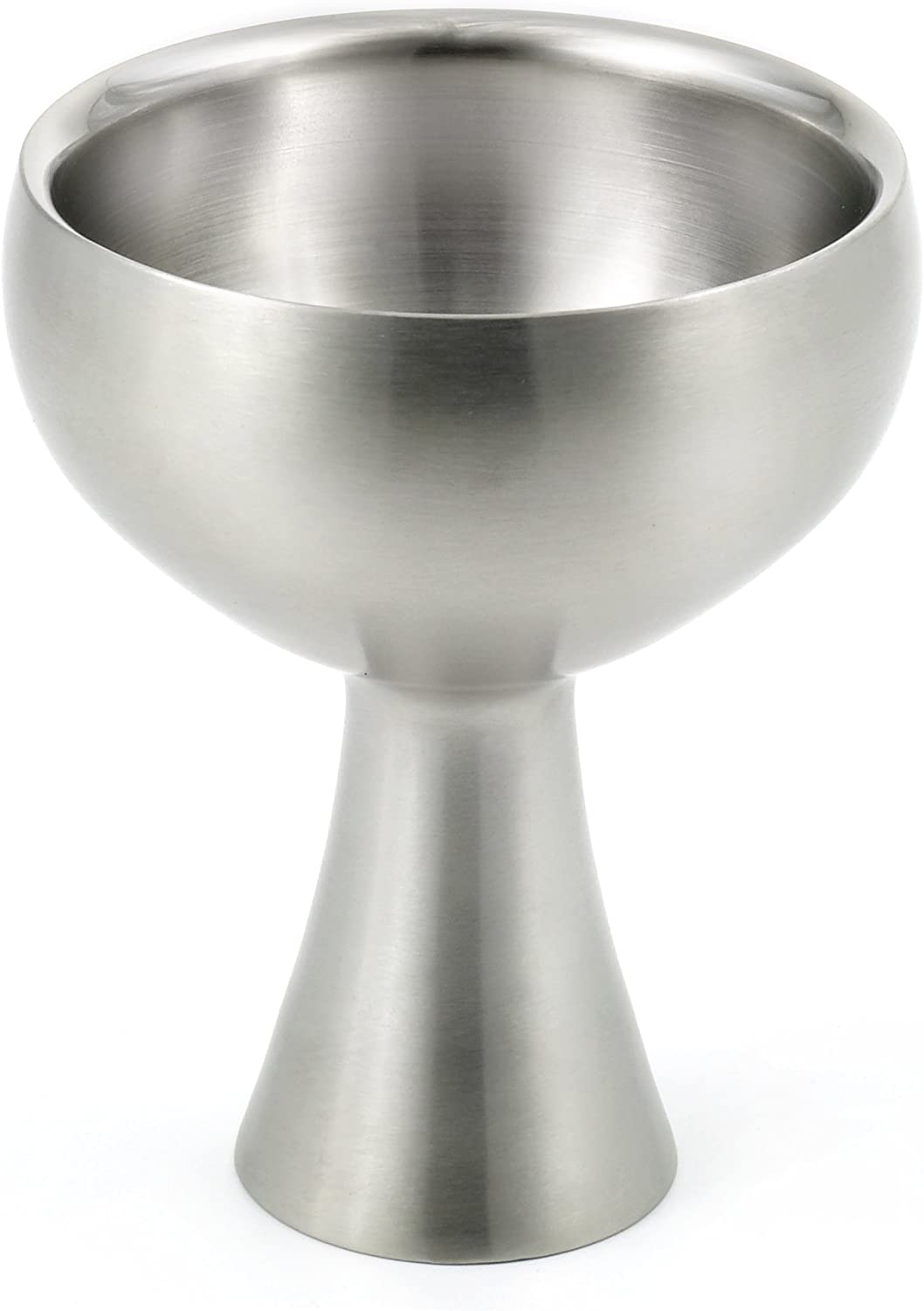 StainlessLUX 75557 Stainless Steel Double-walled Serving Bowl, Dia. 4.5 Inches x Height 5.6 Inches, Volume 1.25 Cup
