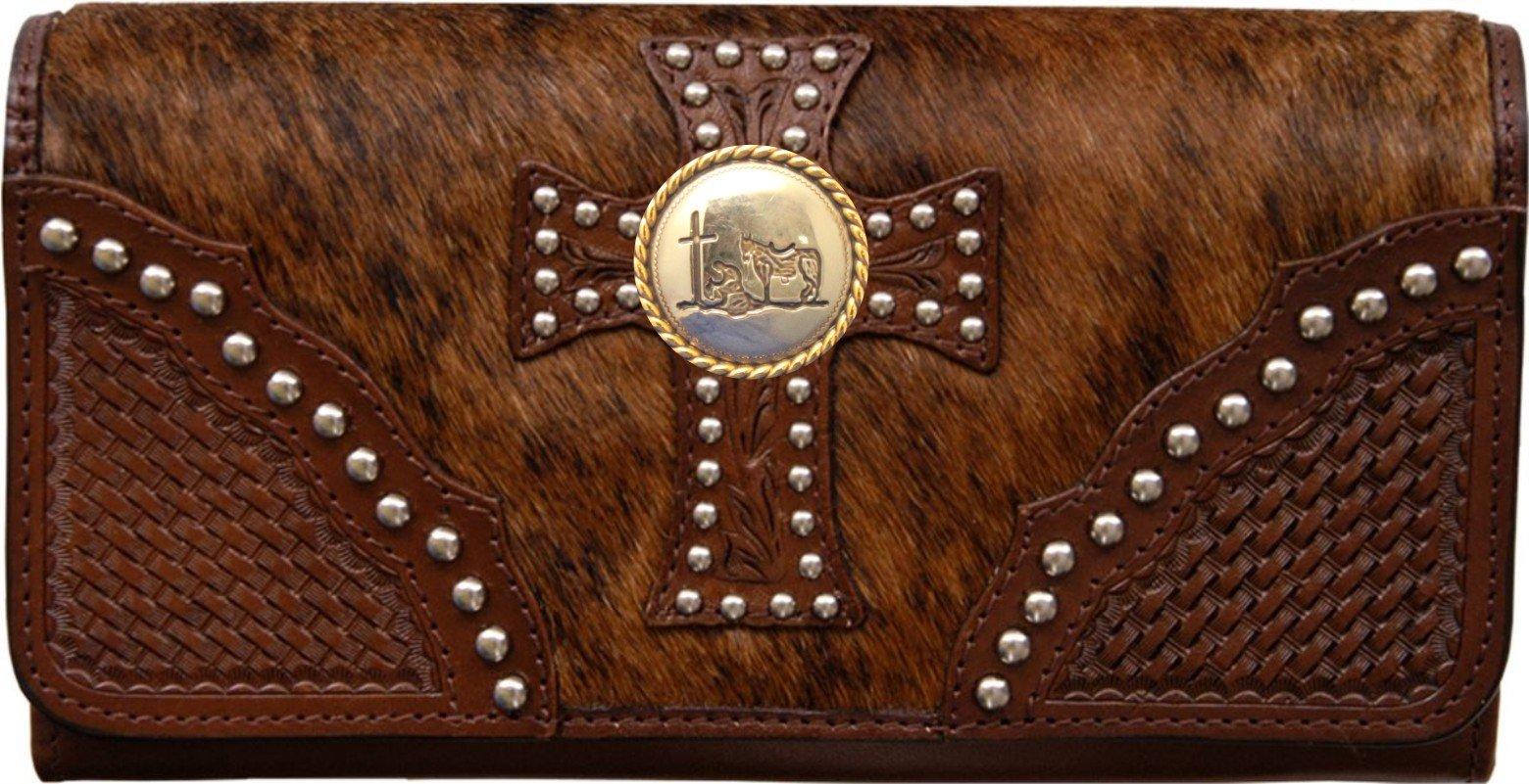 Custom Cowboy Church, Praying Cowboy Natural Hair Christian Clutch Wallet with removable checkbook