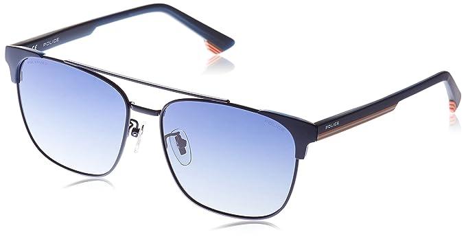 Police Track 7 Gafas de sol, Azul (Shiny Full Blue), 57 para ...
