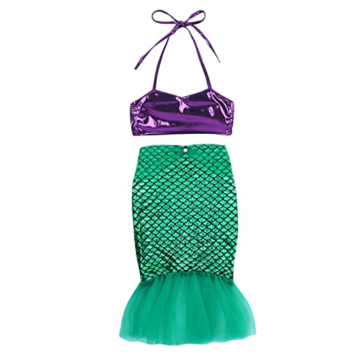 e071e49b7adb Kid Infant Baby Girls Mermaid Romper Outfit Bodysuit Jumpsuit Swimsuits  Tutu Party Dress Skirt Summer Clothes