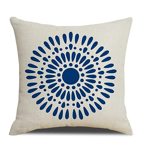 Amazon.com: RUOAR Soft Blue print Decorative Throw Pillow ...