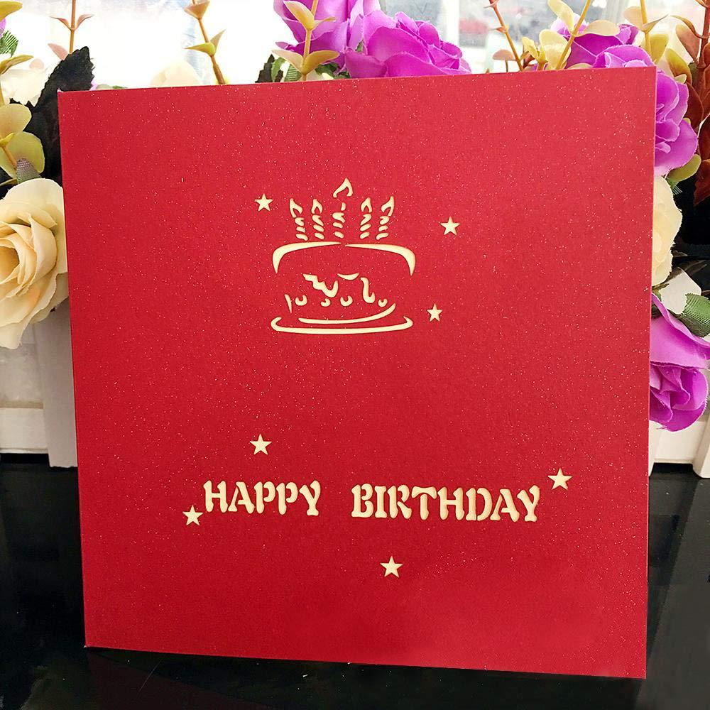 Biglietto Auguri Compleanno Hotott biglietti auguri compleanno Biglietto pop-up di auguri per compleanno biglietto di auguri pop-up 3D busta inclusa buon compleanno