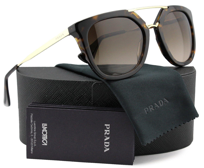 b41e14c2 Amazon.com: Prada SPR13Q Cinema Sunglasses Havana w/Brown Gradient ...