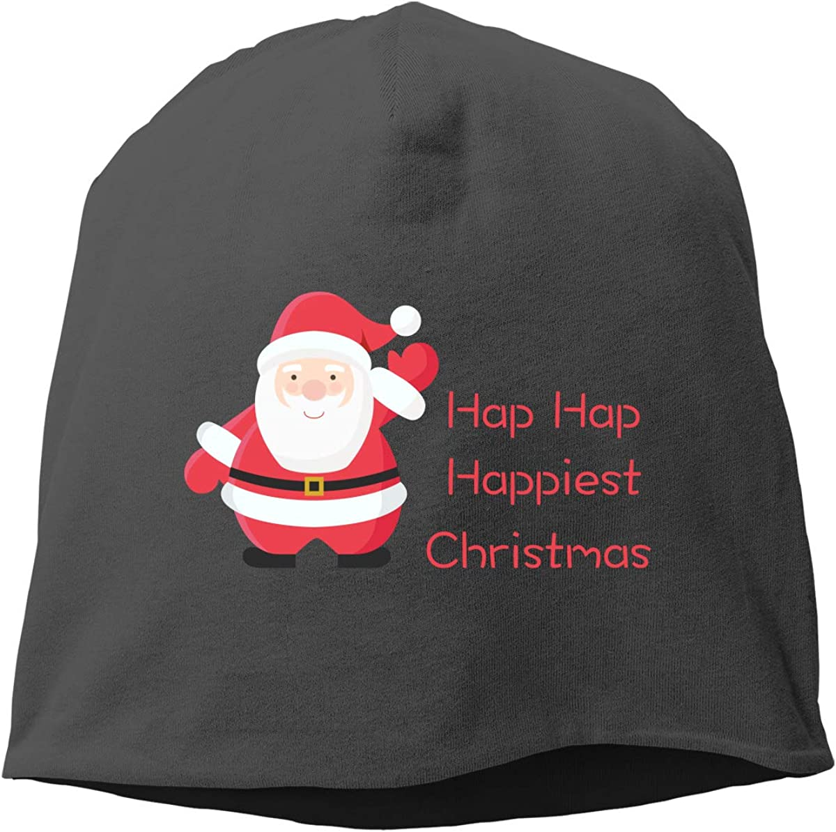 Aidear Hap Hap Happiest Christmas Fashion Chrismas Knitted Hat Fashion Funny Cotton Hat