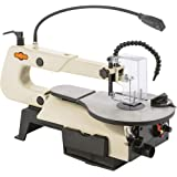 """Shop Fox W1872 16"""" VS Scroll Saw with Foot Switch, LED, Miter Gauge, Rotary Shaft"""