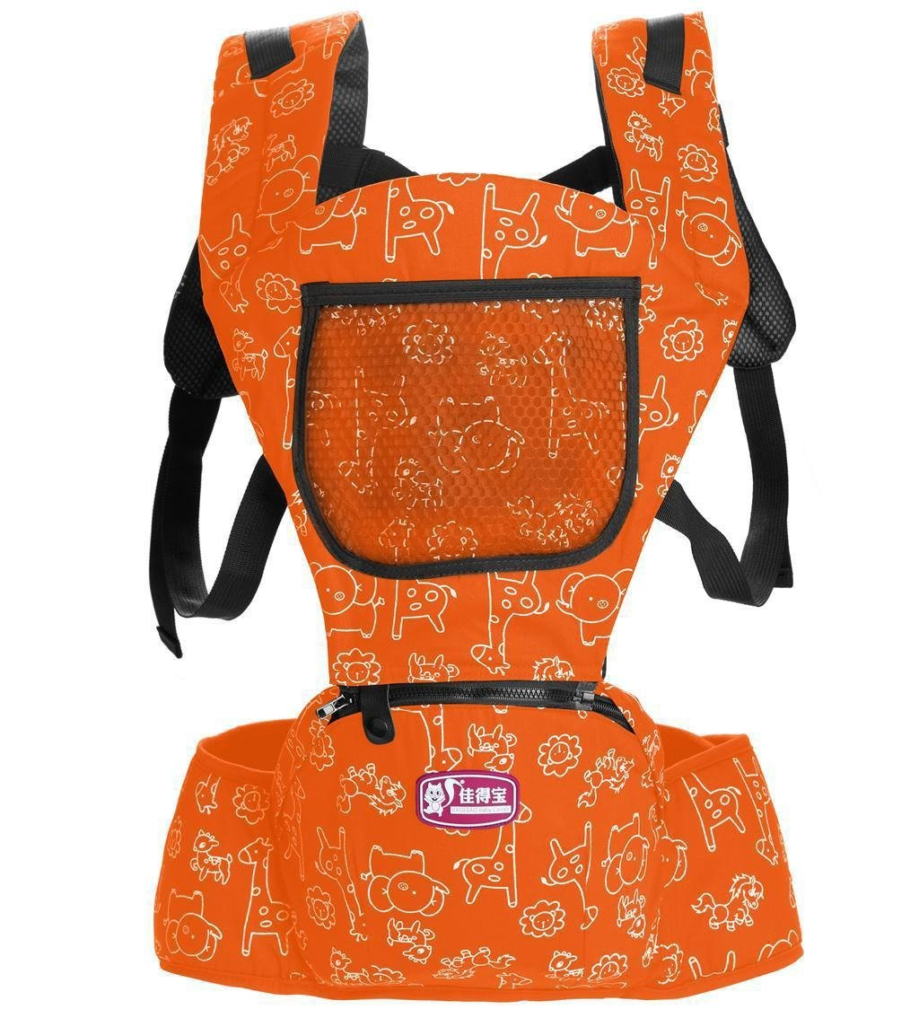 Hip Seat Baby Carrier - Advanced Lumbar Support 6-in-1 (6 Position) , red MLSH
