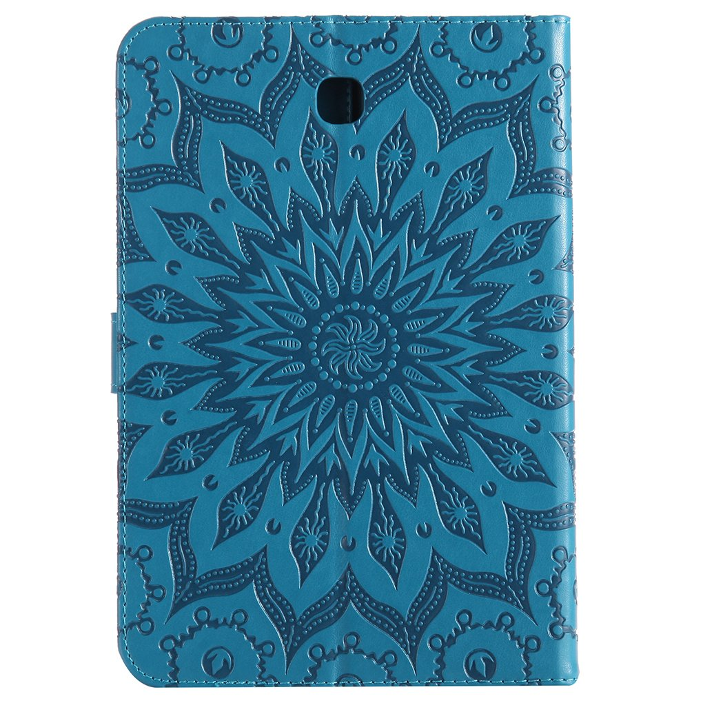 Egal For Samsung Galaxy Tab A 8.0 T350 Wallet Case Tablet Sunflower Embossed Folio PU Leather Stand Shell Shockproof Protector blue
