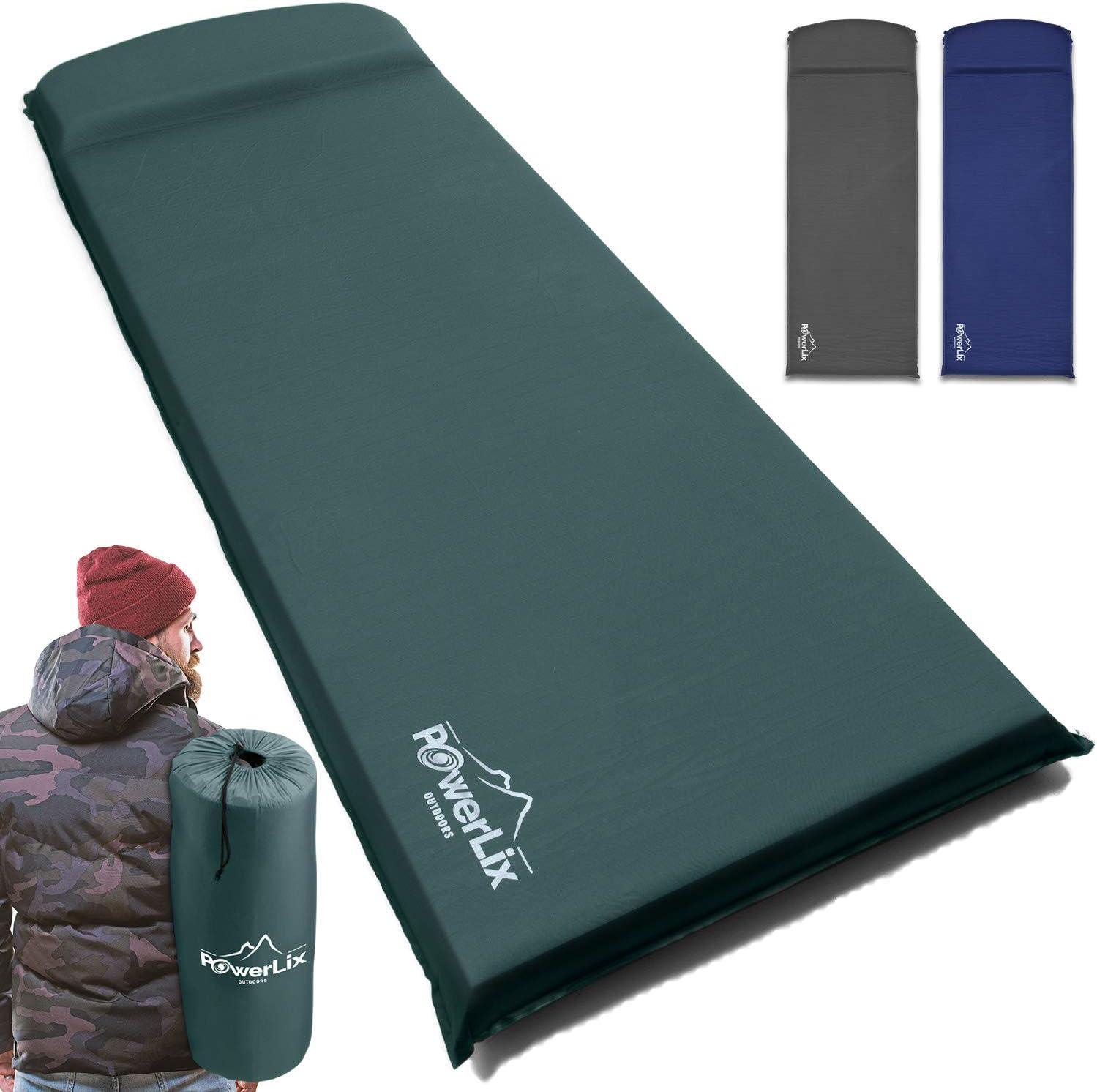 Self-Inflatable Camping Mat Foldable Camping Foam Pad Ultralight Sleeping Pad