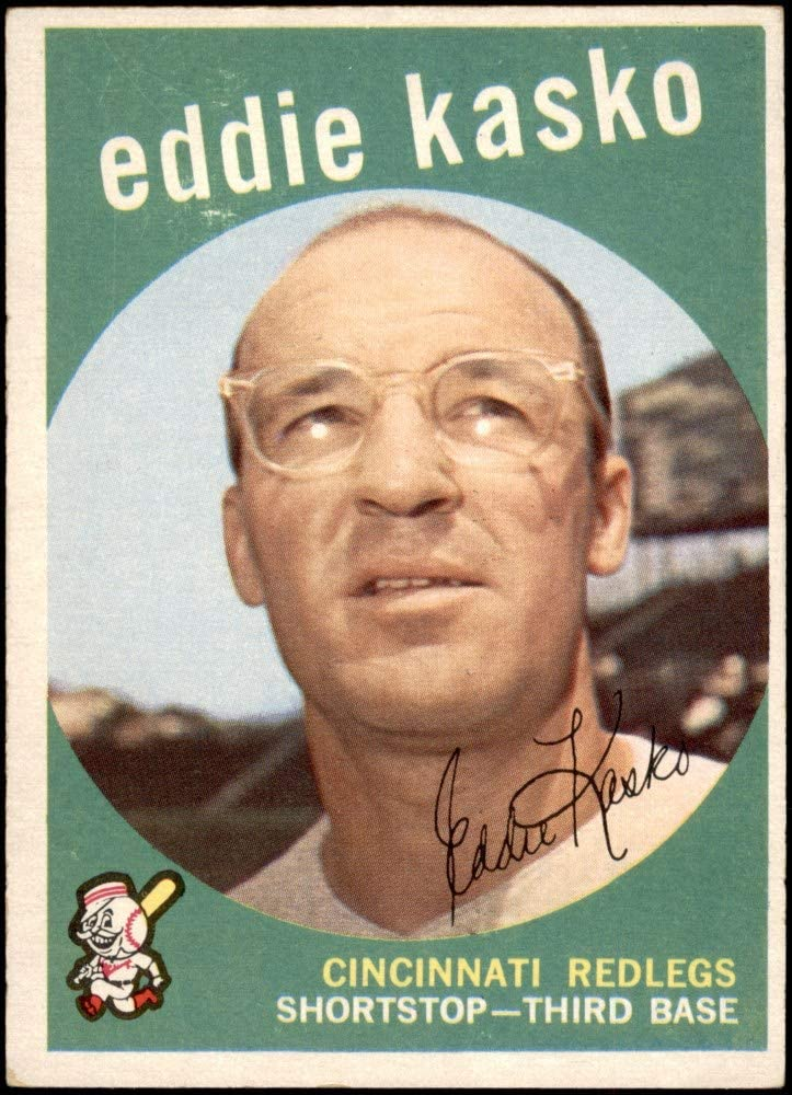 Deans Cards 5 EX Reds Baseball Card 1959 Topps # 232 Eddie Kasko Cincinnati Reds