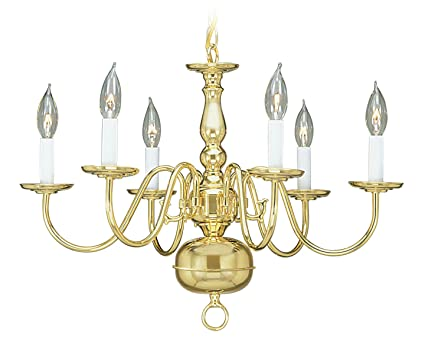 Livex lighting 5006 02 williamsburg 6 light polished brass livex lighting 5006 02 williamsburg 6 light polished brass chandelier aloadofball Image collections