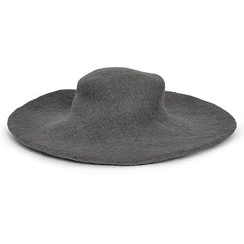 Medieval Hat Wool Headgear with Wide Brim Elegant Grey  Amazon.co.uk ... 0b04da64505