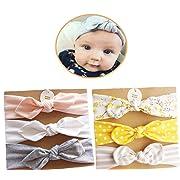 DANMY Baby Girl's Rabbit Ears Headband Cotton Cloth Elastic Hair Band Bow Boy Soft Turban (MX6 (6pcs))