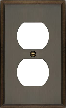 Brass Single Switch Duplex Wallplate Outlet Cover