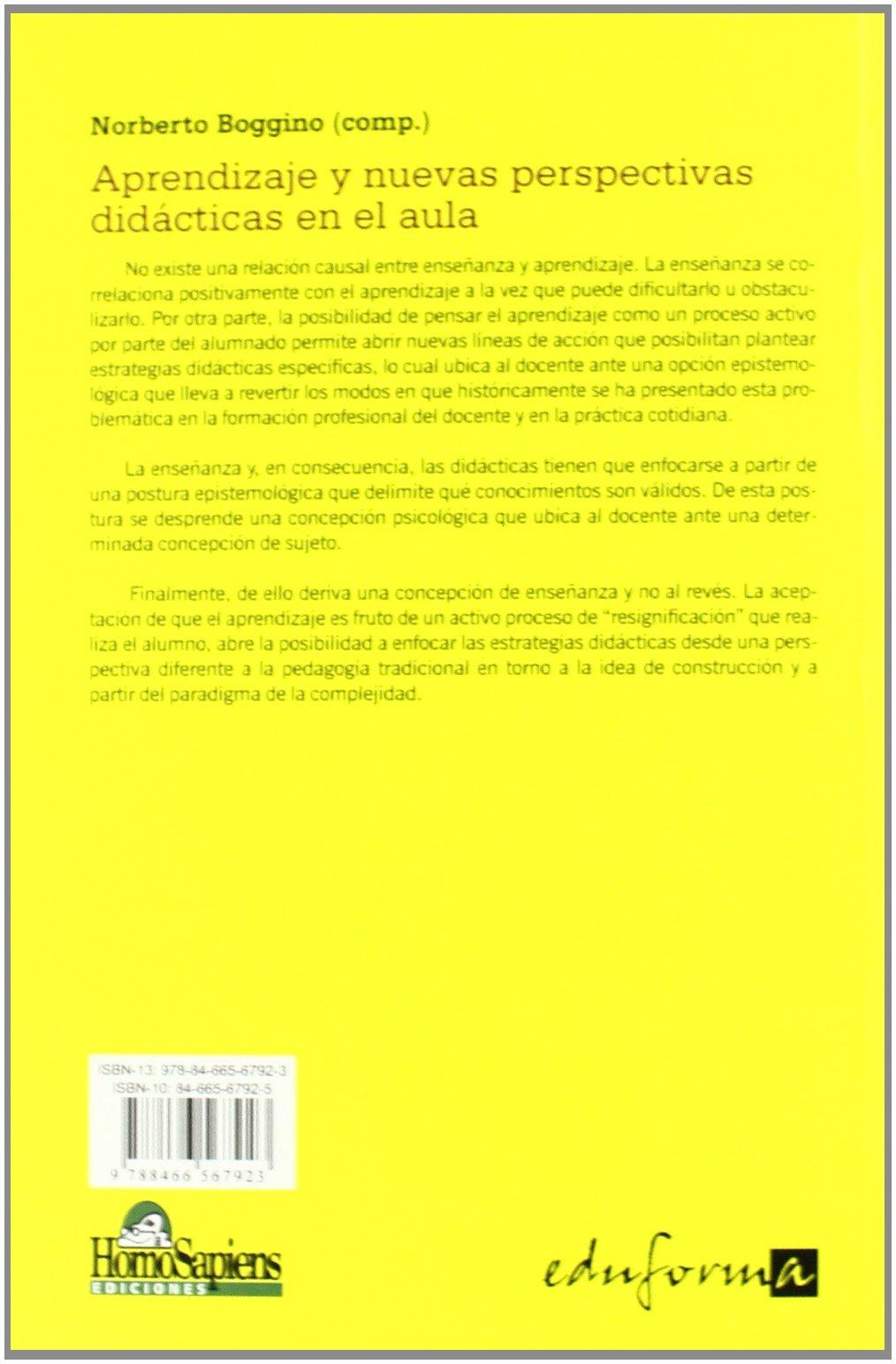 Aprendizaje y nuevas perspectivas didácticas en el aula (Psicologia Y Educacion): 9788466567923: Amazon.com: Books