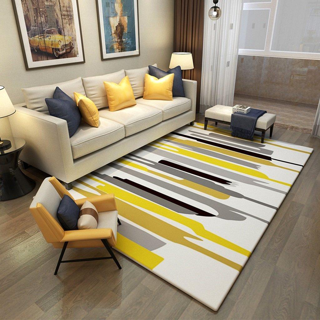 Tappeto moda semplice e moderno tappeto divano del salotto tappeto tavolino camera da letto rettangolare tappeto domestico lanugine nessuna dissolvenza antiscivolo lavabile ( Size : 120x160cm ) Li jing home