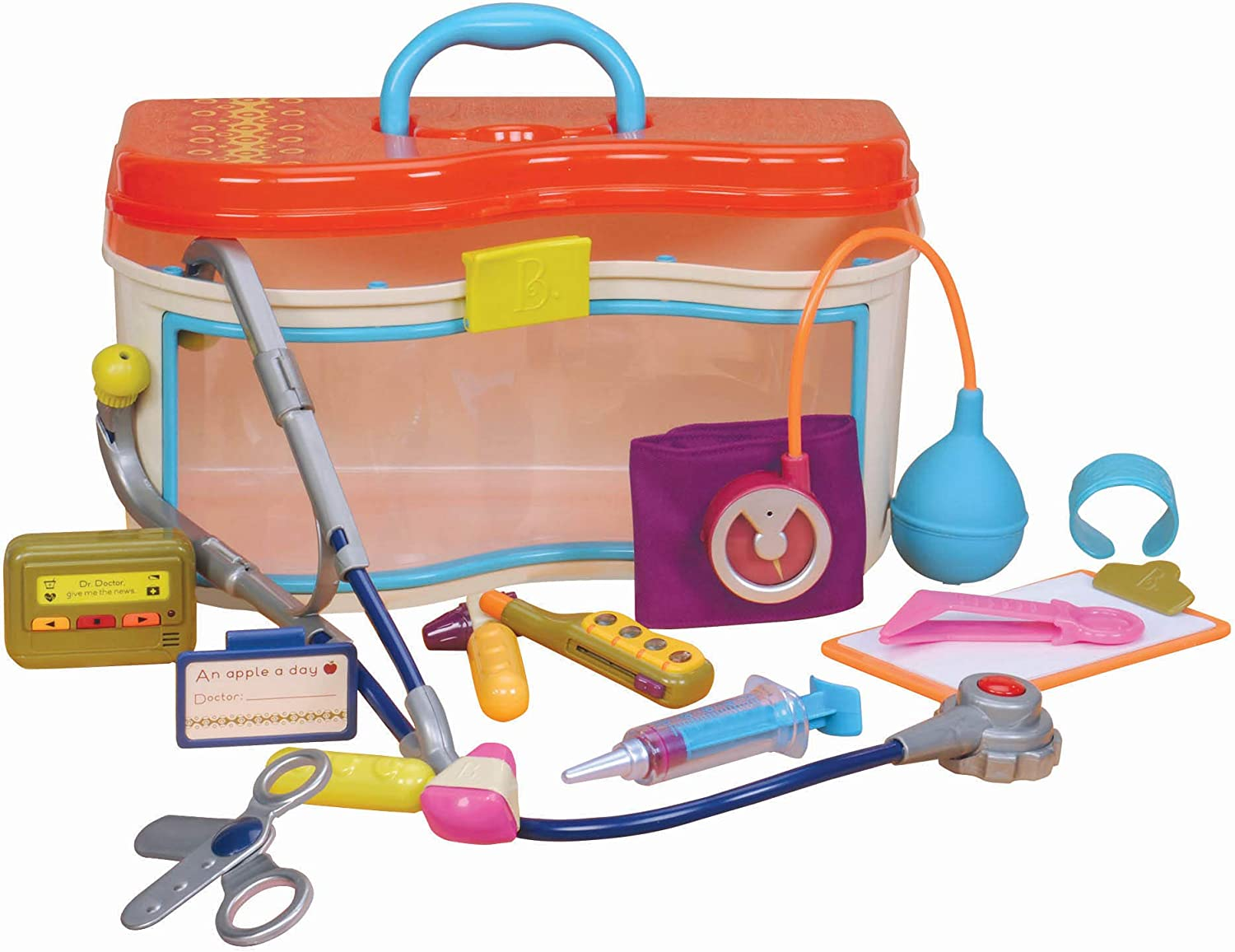 B Doctor Toy Deluxe  Kit for Toddlers Pretend Play Dr toys by Battat B