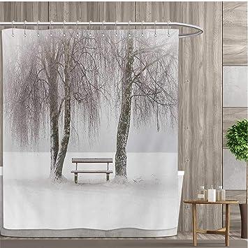 Amazon Com Smallfly Tree Custom Made Shower Curtain Bench