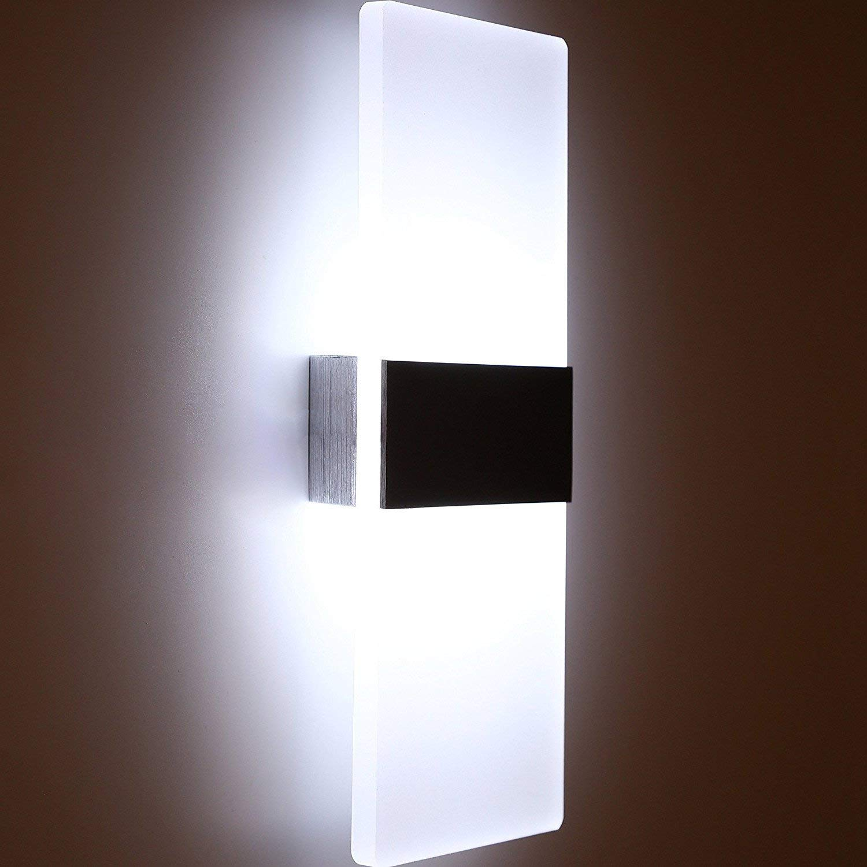 Decoroom modern wall sconce led wall light aluminium wall lamp 6w acrylic lighting fixture for living room bedroom corridor balcony staircase cold