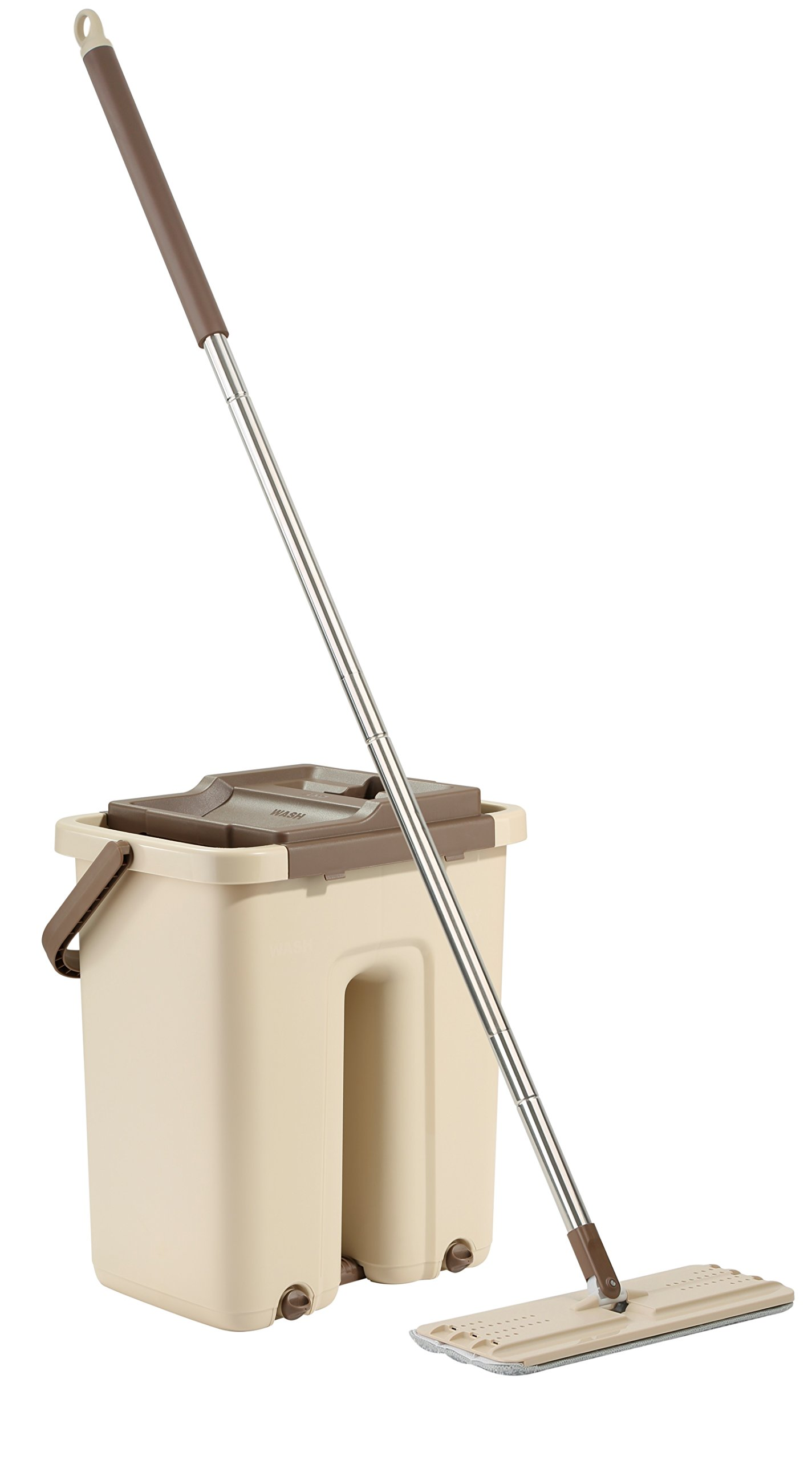 Husky Mounts World's Only Self Rinsing/Self Drying Mop & Bucket System Easily Gets Tile & Wood Floors Sparkling Clean. Patented Ergonomic Easy on Back. Flexible Mop Goes Into Tight Places