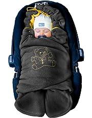 """ByBoom® - Baby Winter-Einschlagdecke """"Das Original mit dem Bären"""", Universal für Babyschale, Autositz, z.B. für Maxi-Cosi, Römer, für Kinderwagen, Buggy oder Babybett"""