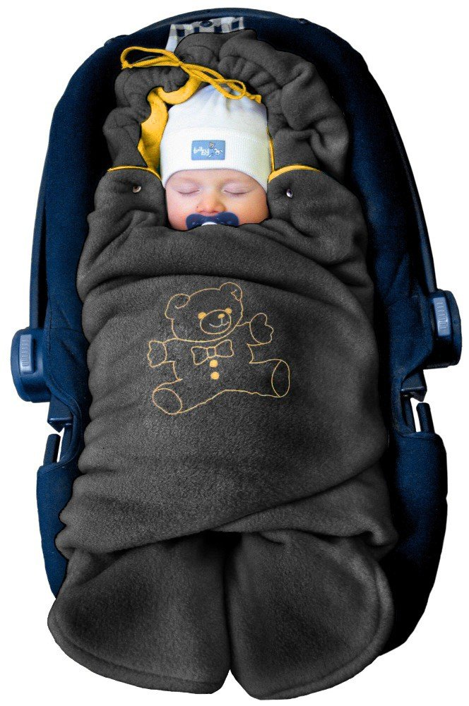 ByBoom - Baby Swaddling Wrap, Car Seat and Pram Blanket for Winter; THE ORIGINAL WITH THE BEAR BM-32