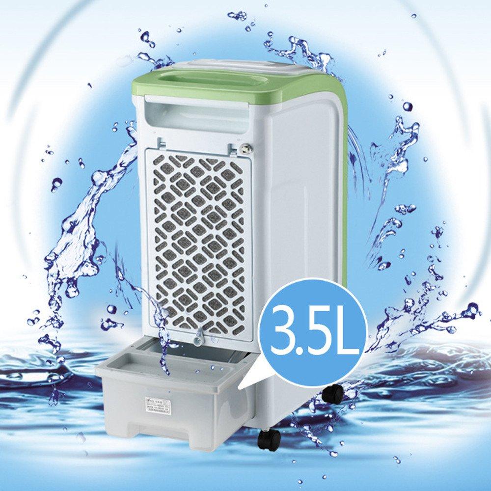 Negro Riou Climatizador Evaporativo de bajo Consumo Aire Acondicionado movil Personal Humidificador Purificador Ventilador Niveles de Potencia-Panel Digital-Mando a Distancia Verde