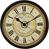 Wall Clock, SAYTAY Large Digital Electronic Silent Black Punctual Quartz Clock for Kitchen,Bedroom,Garden,Living room,Study,Office (WRN)