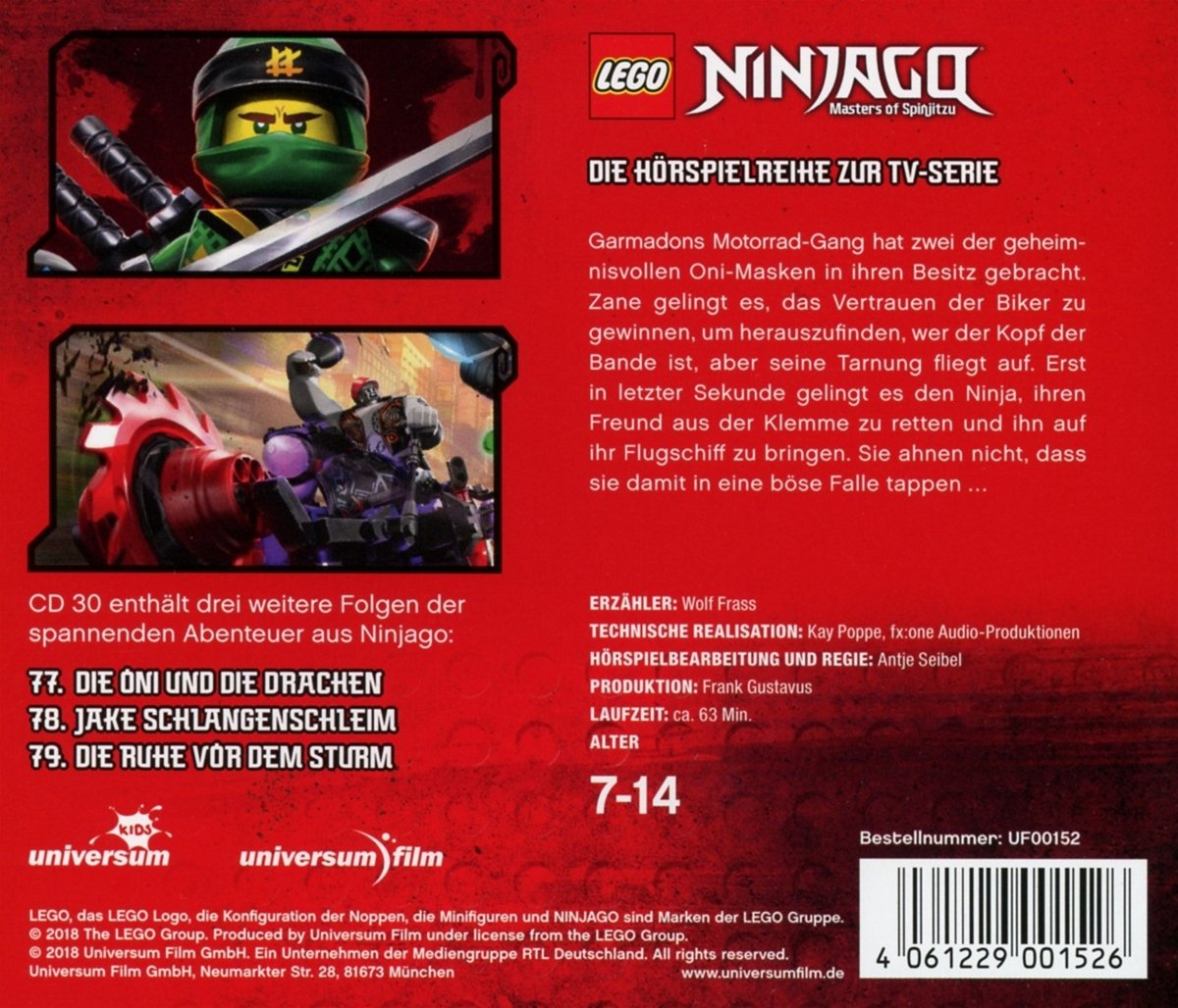 CD LEGO Ninjago 30 Die Oni Sonstige