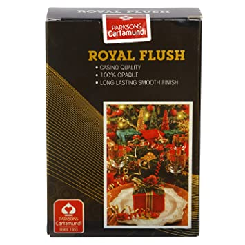 Parksons Cartamundi Royal Flush (Single Pack) Pure Plastic Playing Card for Fun / Game / Party