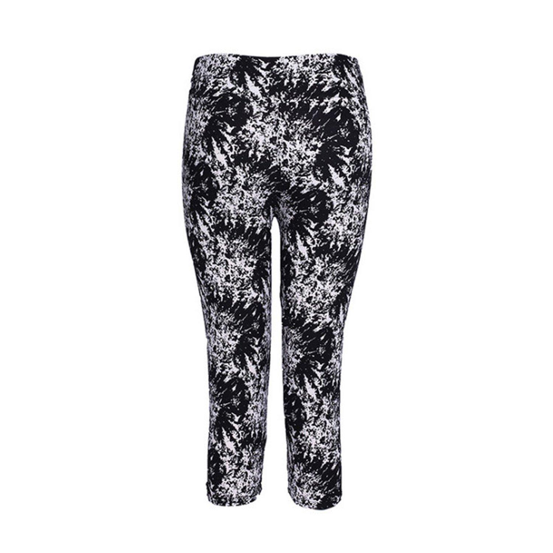 6972c6e160b Shilian Clothing Fashion Nice Women Print Black Pants Capris Women Leggings  Female Pants Mid Calf Legging at Amazon Women s Clothing store