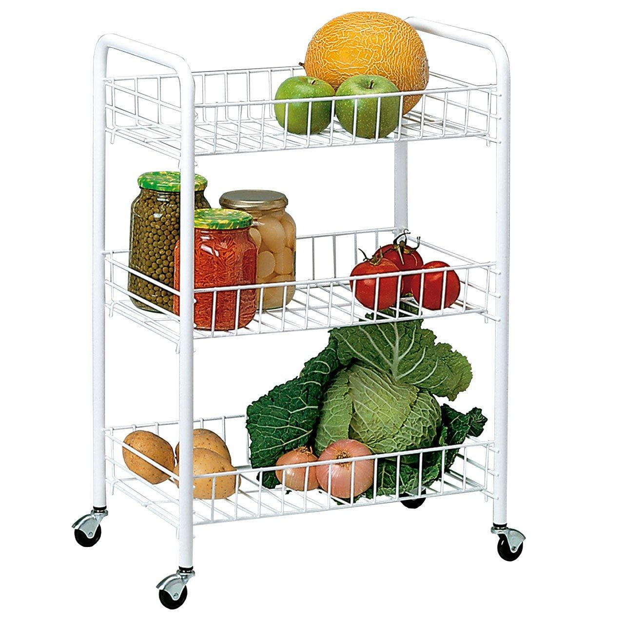 Rayen 1110.01 Kitchen Trolley 41 x 26 x 60 cm 3 Shelves