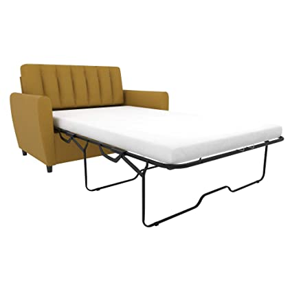 Foam Mattress Sleeper Sofa.Novogratz Brittany Sleeper Sofa With Memory Foam Mattress Mustard Twin
