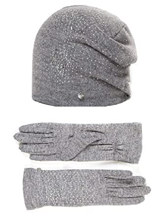 HUT YOU - Ensemble bonnet, écharpe et gants - Femme - Gris - Taille unique de4eb98b827