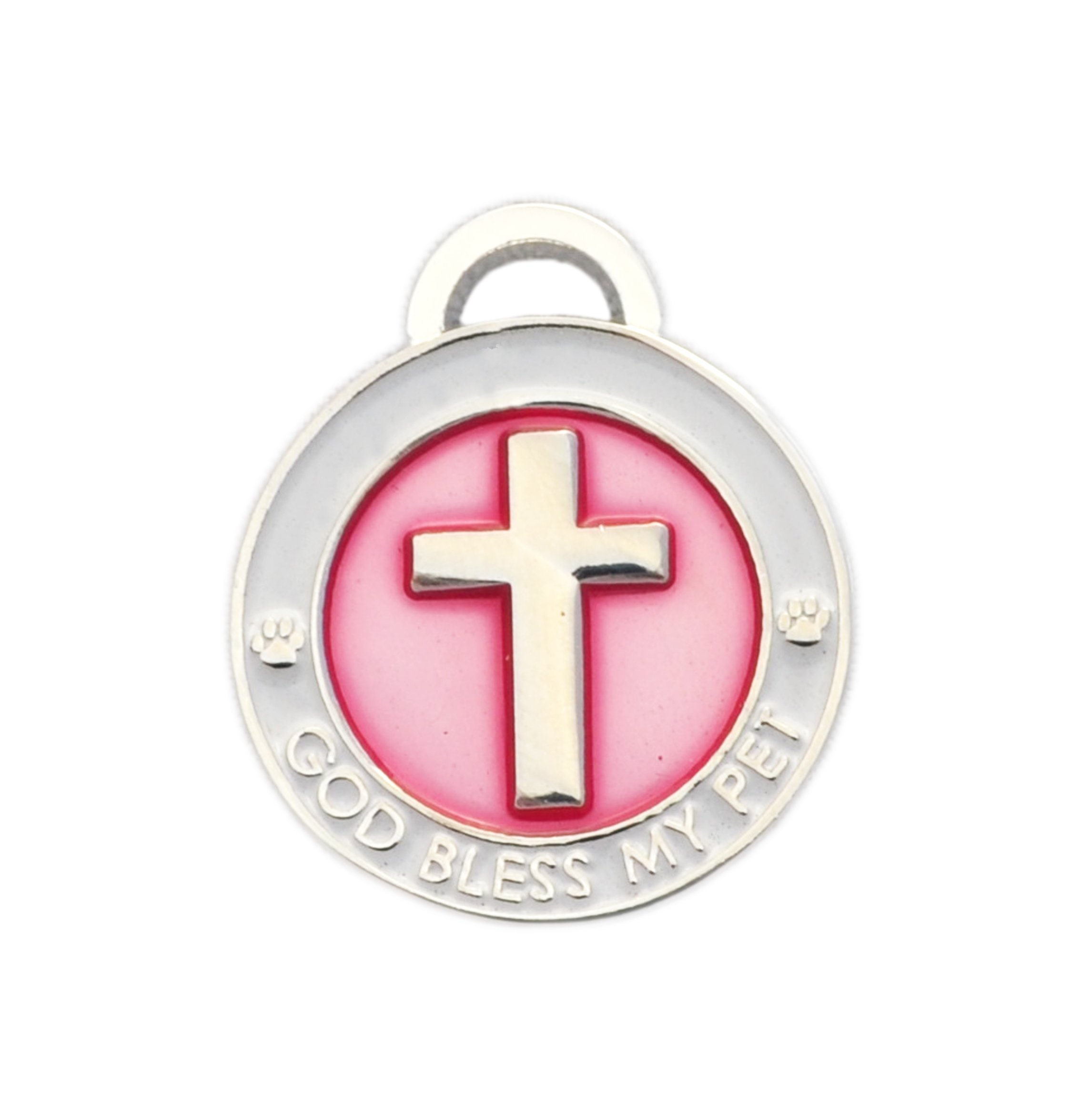 Luxepets Pet Collar Charm, Cross, Small, Pink by Luxepets