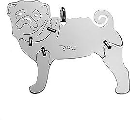 MOPS Hunde Tier-Anhänger Medium 925 Sterling Silber Charm Schmuck 056CM
