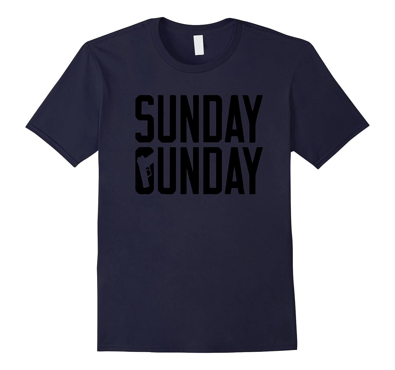 Sunday Gunday Gun Shooting Pistol Firearms T-Shirt-RT