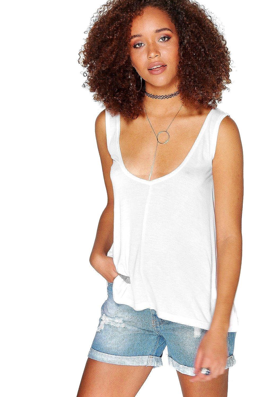 White Womens Katie Premium Jersey Swing Vest