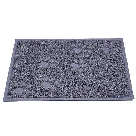 Chytaii Alfombrilla Bandeja Gato Antideslizante y Impermeable Estera Rectangular para Mascota Tapete para Comer de Mascotas