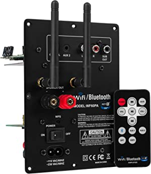 Dayton Audio WF60PA 60W Class D Full-Range 2 Channel Plate Amplifier with Wi-Fi and Bluetooth 4.0 aptX